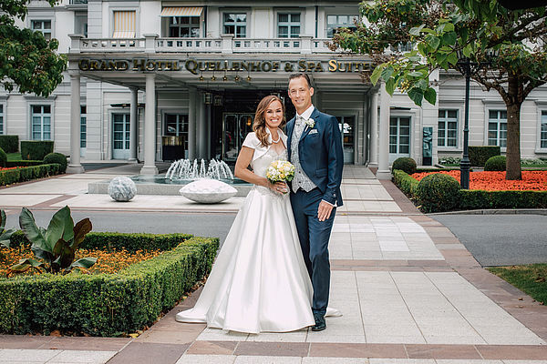 "Martina Hingis and Harry Leemann say ""I do"" at the Grand Resort Bad Ragaz"